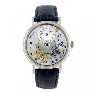 BREGUET - a gentleman's Tradition 7037 wrist watch. 18ct white gold case with exhibition case back.