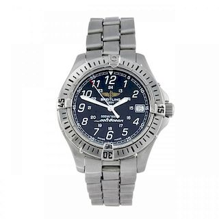 BREITLING - a gentleman's Aeromarine Colt bracelet watch. Stainless steel case with calibrated bezel