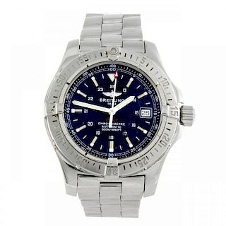 BREITLING - a gentleman's Colt bracelet watch. Stainless steel case with calibrated bezel. Reference