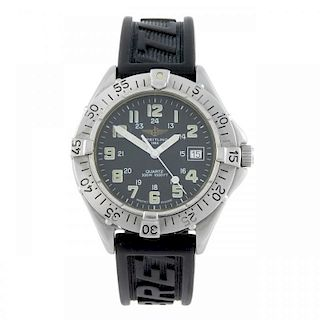 BREITLING - a gentleman's Colt Quartz wrist watch. Stainless steel case with calibrated bezel. Refer