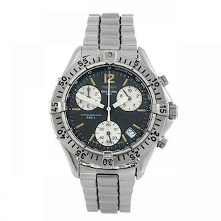 BREITLING - a gentleman's Aeromarine Colt chronograph bracelet watch. Stainless steel case with cali
