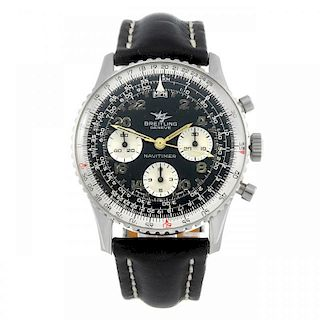BREITLING - a gentleman's Navitimer Cosmonaute chronograph wrist watch. Stainless steel case with sl