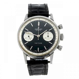 BREITLING - a gentleman's Top Time chronograph wrist watch. Stainless steel case. Reference 2002. Ma