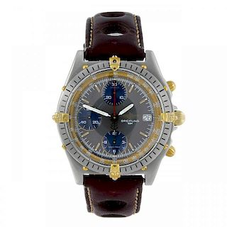 BREITLING - a gentleman's Windrider Chronomat chronograph wrist watch. Stainless steel case with cal