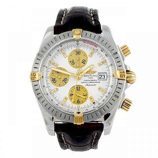 BREITLING - a gentleman's Windrider Chronomat Evolution chronograph wrist watch. Stainless steel cas