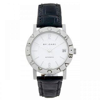 BULGARI - a gentleman's Bulgari wrist watch. Stainless steel case. Reference BB 33 SL AUTO, serial J