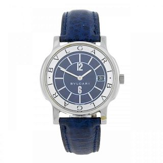 BULGARI - a gentleman's Solotempo wrist watch. Stainless steel case. Reference ST35S, serial D82397.