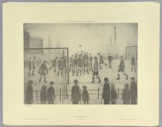 L.S. Lowry (1887-1976) (after) 'Football Match', offset lithograph, numbered 1485/1500, unsigned. Pu