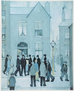 L.S. Lowry (1887-1976) (after), 'The Arrest', unsigned limited edition print from edition of 850 cop