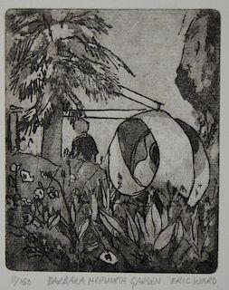 Eric Ward (British, B.1945). 'Barbara Hepworth Garden', limited edition print, signed titled and num