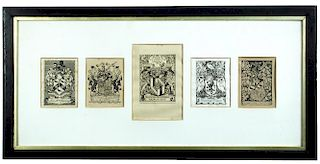 Charles William Sherborn (1831-1912), A collection of 28 framed engraved bookplates, circa late 19th