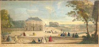 John Bowles View of St James's Square, London, coloured engraving, published 1753, 25 x 39 cm (disco