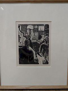 Guy Malet (1900-1973) - RBA, SWE Inner Harbour Dieppe, wood engraving, 15/50, 17 x 21 cm; together w