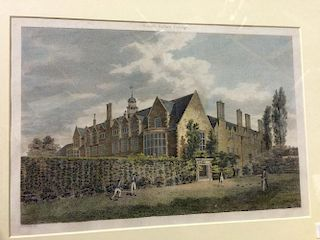 Sidney Sussex College, Cambridge, three engravings by Baldrey, Mackenzie or Le Keux, including the M