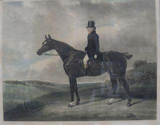 W. Giller after Abraham Cooper, Daniel Haigh Esq,  mezzotint in colours, 50cm x 63cm <br> <br>