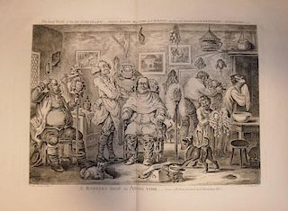 Gillray and others. Collection of caricatures, including 'A Barber's Shop in Assize Time', 'What can