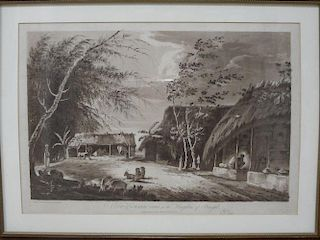 W. Hodges A View of a Farm-yard in the Kingdom of Bengal, aquatint, 1786, published by J. Wells, 32.