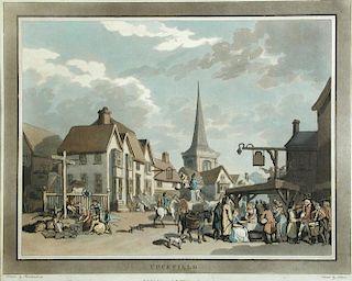 Thomas Rowlandson (1756-1827) , An Excursion to Brighthelmstone, set of 8 coloured aquatints publish