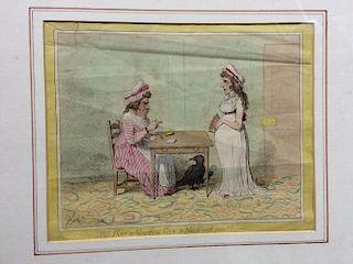 James Gillray (1756-1815), three 18th-early 19th century satirical cartoons, to include 'The Esplana