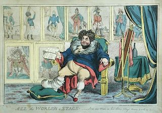 William Heath (1794-1840) , All the World's a Stage - And One Man in His Time Plays Many Parts, hand