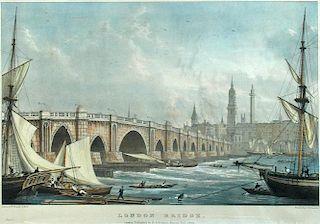 Charles Joseph Hullmandel (1789-1850) after William Westall (1781-1850)  A pair of prints: 'London B