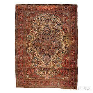 Antique Sarouk Fereghan Carpet