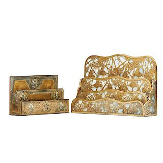TIFFANY STUDIOS Two letter holders