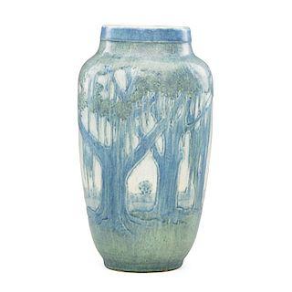 SADIE IRVINE; NEWCOMB COLLEGE Scenic vase