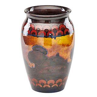MOORCROFT Large landscape vase
