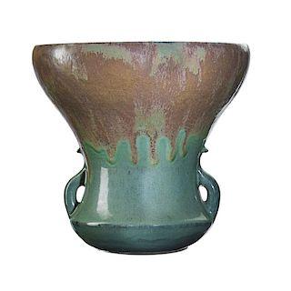 AUGUSTE DELAHERCHE Large flaring vase