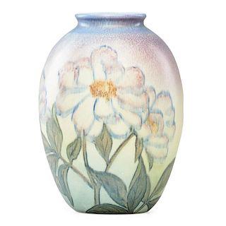 K. SHIRAYAMADANI; ROOKWOOD Decorated Mat vase