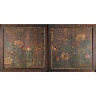 JOHN SCOTT BRADSTREET Pair of cabinet doors