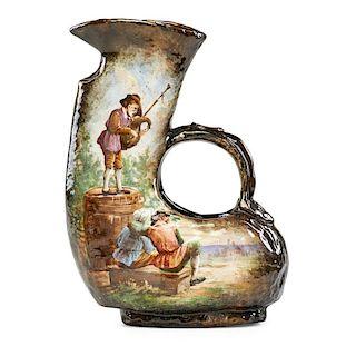 EMILE GALLE Glazed ceramic pitcher