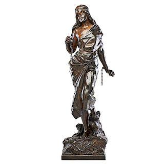 """EMMANUELE VILLANIS Bronze, """"Prise de Corsaire"""""""