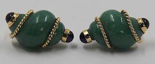 JEWELRY. Seaman Schepps Shell Form Earrings.
