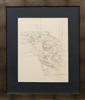 Alberto Giacometti, (Swiss, 1901-1966), Objects in the Studio from Quarantacinque disegni di Alberto Giacometti, 1959