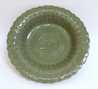 Celadon Charger Or Shallow Bowl