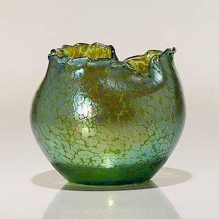 Loetz Creta Papillon Vase