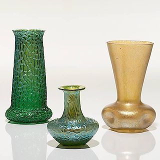 A Group of Loetz Vases