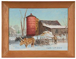 Farm Scene by Winfield Scott Clime