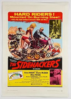 Vintage 1969 The Sidehackers Movie Poster
