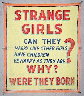 Sideshow Banner attr. Snap Wyatt (USA, 1905-1984)