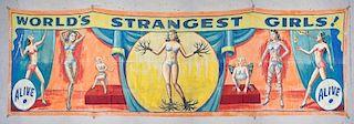"Snap Wyatt (American, 1905-1984) Banner: 104"" x 360"""