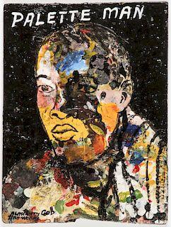 "Kwame Akoto/Almighty God (Ghanaian, b. 1950) ""PALETTE MAN"""