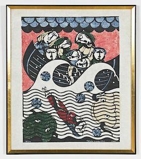 Sadao Watanabe (Japanese, 1913-1996) Woodcut, 1965