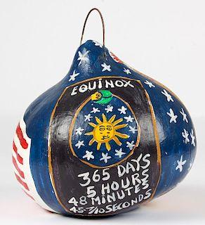 BF Perkins (American, 1904-1993) Painted Gourd