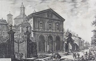 After Giovanni Piranesi, (Italian, 1720-1778), The Basilica of S. Sebatiano and The Basilica of S. Paolo