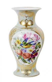 A Continental Porcelain Urn Height 15 inches.