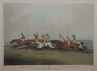 A Collection of Three English Sporting Prints 14 x 18 3/4 inches.