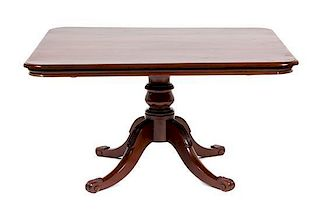 A Georgian Style Mahogany Breakfast Table Height 29 x width 53 3/4 x depth 47 1/2 inches.